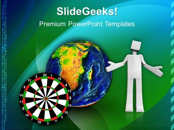 Global Target Strategy Business PowerPoint Templates And PowerPoint Themes 1012