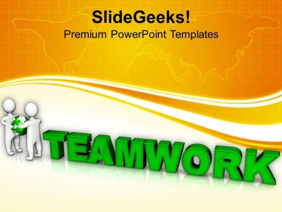 Global Teamwork Concept Image PowerPoint Templates Ppt Backgrounds For Slides 0813