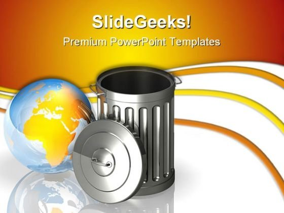 Global Trash Environment PowerPoint Themes And PowerPoint Slides 0611
