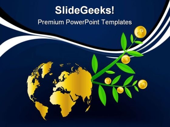 Global Tree Finance PowerPoint Templates And PowerPoint Backgrounds 0511