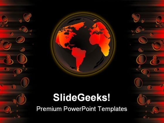 Global Warming Abstract PowerPoint Themes And PowerPoint Slides 0411