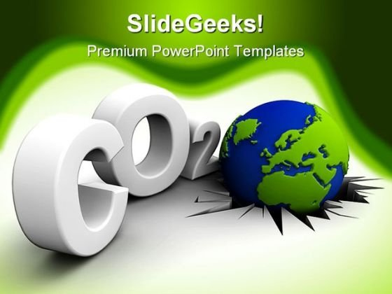 Global Warning Globe PowerPoint Templates And PowerPoint Backgrounds 0111