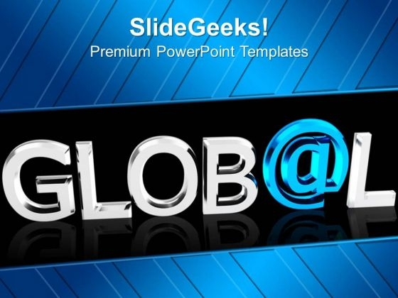 Global With At Symbol Marketing PowerPoint Templates Ppt Backgrounds For Slides 0213