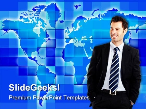 Globalization People PowerPoint Background And Template 1210