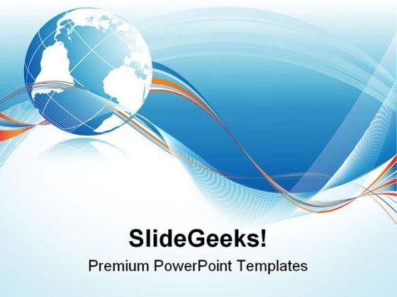 Globe Abstract Background PowerPoint Templates And PowerPoint Backgrounds 0611