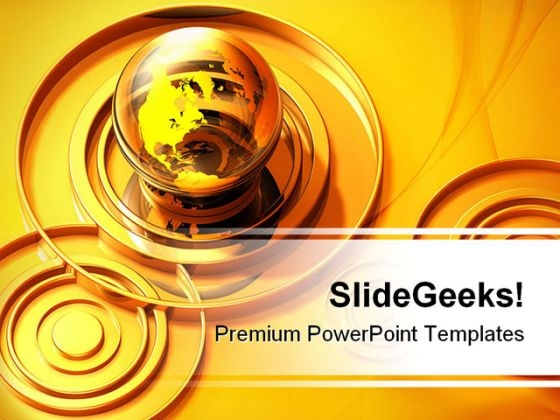 Globe And Concentric Circles Global PowerPoint Templates And PowerPoint Backgrounds 0211