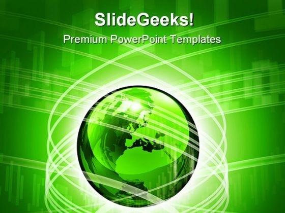 Globe And Data Spiral Abstract PowerPoint Templates And PowerPoint Backgrounds 0311