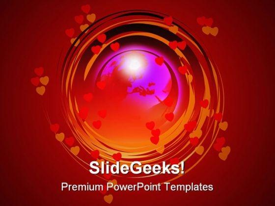 Globe Help PowerPoint Template 0810