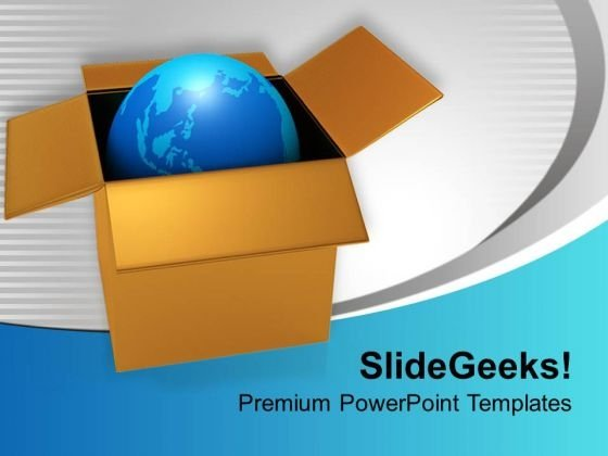 Globe In Box Packed Global Issues PowerPoint Templates Ppt Backgrounds For Slides 0313