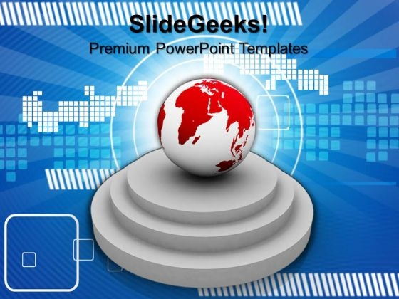 Globe On Pedestals Global PowerPoint Templates And PowerPoint Themes 0912