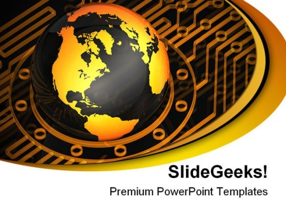 Globe Protrude Technology PowerPoint Themes And PowerPoint Slides 0311