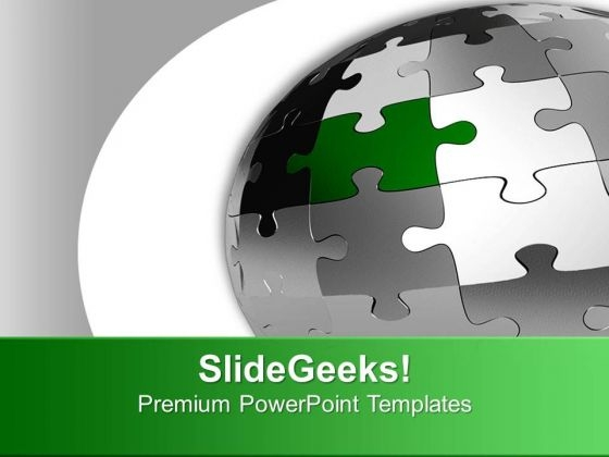 Globe Spherical Puzzle Design PowerPoint Templates Ppt Backgrounds For Slides 0713