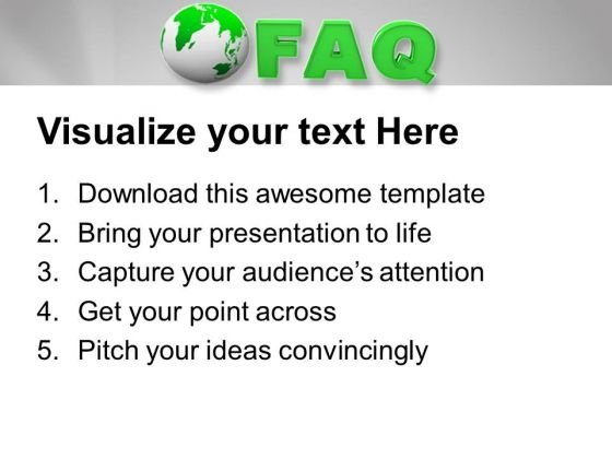 Frequently Asked Questions Word Template from www.slidegeeks.com