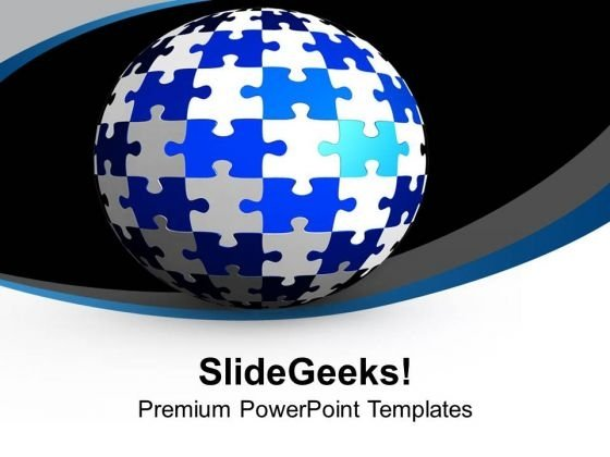 Globe World Puzzle Theme PowerPoint Templates Ppt Backgrounds For Slides 0713