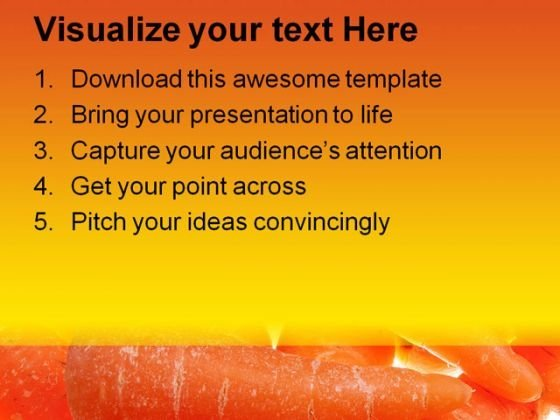 glowing_carrots_background_food_powerpoint_templates_and_powerpoint_backgrounds_0311_text