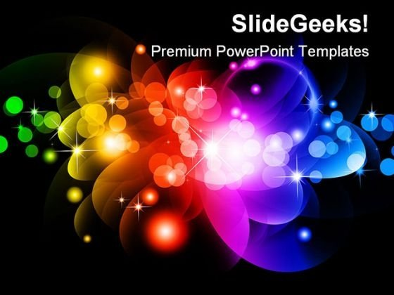 Glowing Circles Abstract PowerPoint Templates And PowerPoint Backgrounds 0411