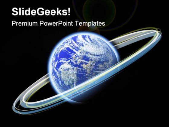 Glowing Earth PowerPoint Themes And PowerPoint Slides 0611