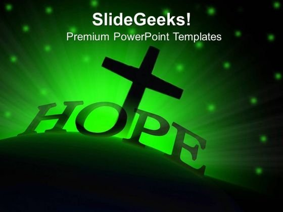 Glowing Hope Sermon PowerPoint Templates And PowerPoint Themes 0712