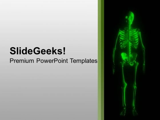 Glowing Human Skeleton PowerPoint Templates Ppt Backgrounds For Slides 0613