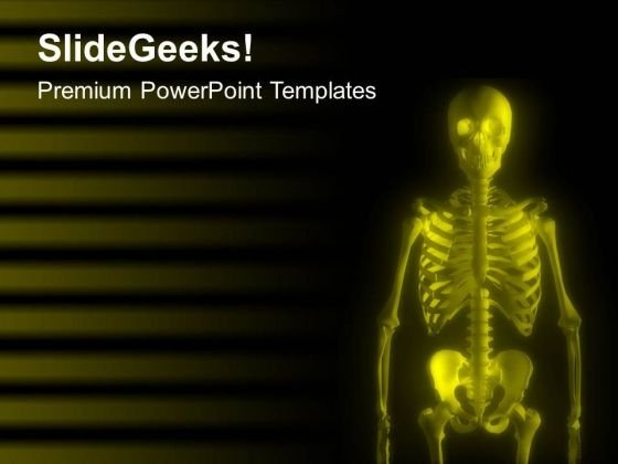 Glowing Skeleton With Yellow Color PowerPoint Templates Ppt Backgrounds For Slides 0613