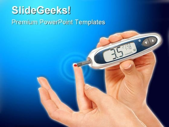 Gluco Measure Medical PowerPoint Templates And PowerPoint Backgrounds 0511