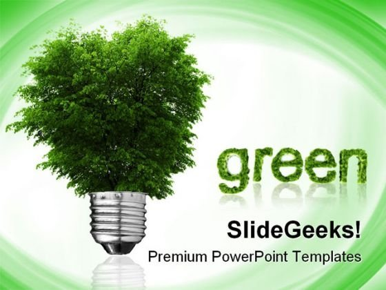 Go Green Environment PowerPoint Themes And PowerPoint Slides 0811