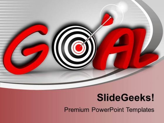 Goal And Conceptual Target With Arrow PowerPoint Templates Ppt Backgrounds For Slides 0413