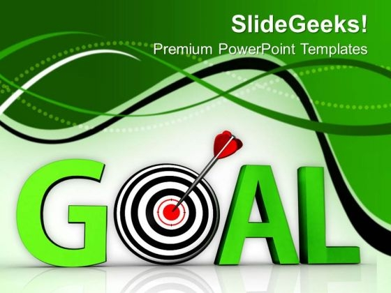 Goal As Target Achieved Business PowerPoint Templates Ppt Backgrounds For Slides 0513