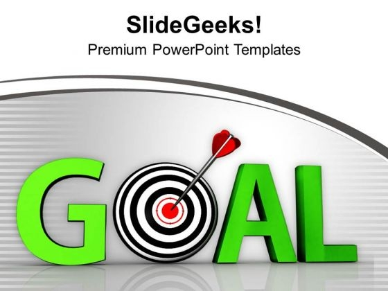Goal Green Word And Conceptual Target PowerPoint Templates Ppt Backgrounds For Slides 0413