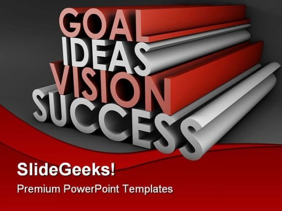 Goal Ideas Vision Success Business PowerPoint Themes And PowerPoint Slides 0711