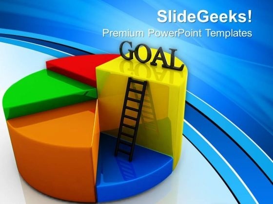 Goal Pie Chart Concept Business PowerPoint Templates And PowerPoint Themes 0612