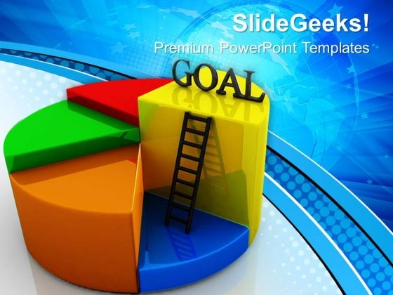 Goal Pie Chart Concept Business PowerPoint Templates And PowerPoint Themes 0712