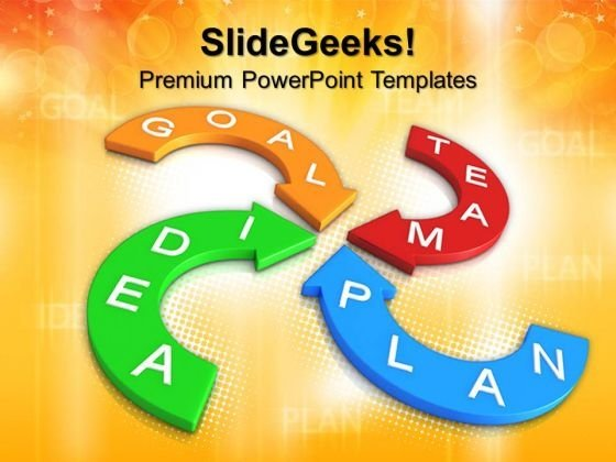 Goal Plan Arrows Business PowerPoint Templates And PowerPoint Themes 0712
