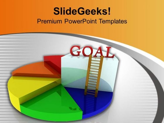 Goal Representation By Pie Chart PowerPoint Templates Ppt Backgrounds For Slides 0413