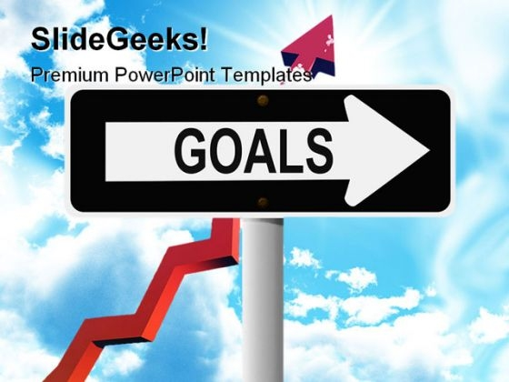 Goals Signpost Metaphor PowerPoint Themes And PowerPoint Slides 0711