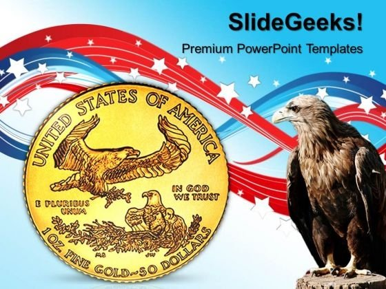 Gold Coin With Eagle Americana PowerPoint Templates And PowerPoint Themes 1012