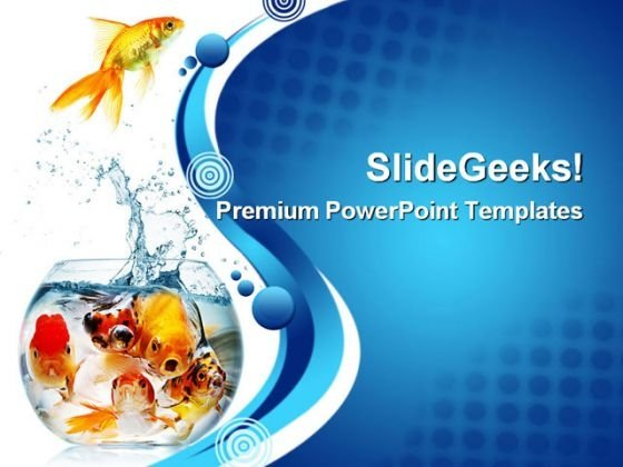 Gold Fish Animals PowerPoint Themes And PowerPoint Slides 0311