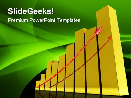 Gold Graph Business PowerPoint Themes And PowerPoint Slides 0511