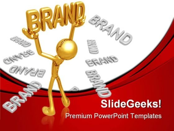 Golden Brand Business PowerPoint Themes And PowerPoint Slides 0511