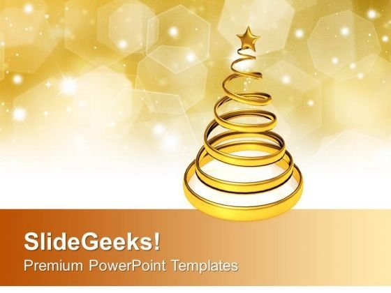 Golden christmas tree over a shiny background powerpoint templates goldenchristmastreeoverashinybackgroundpowerpointtemplatespptbackgroundsforslides0113title toneelgroepblik Images