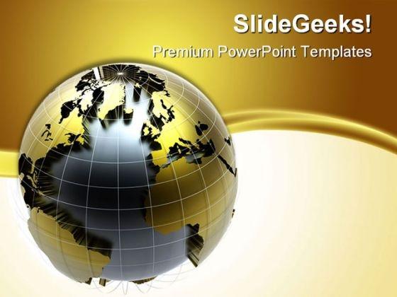 Golden Globe Background PowerPoint Templates And PowerPoint Backgrounds 0311