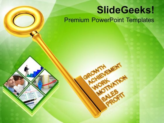 Golden Key With Words Business Terms PowerPoint Templates Ppt Backgrounds For Slides 0213