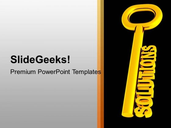 Golden Solution Key Business PowerPoint Templates Ppt Backgrounds For Slides 1212