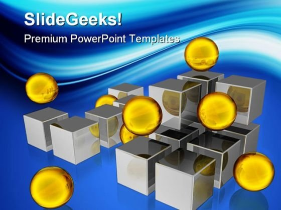 Golden Spheres Business PowerPoint Templates And PowerPoint Backgrounds 0311