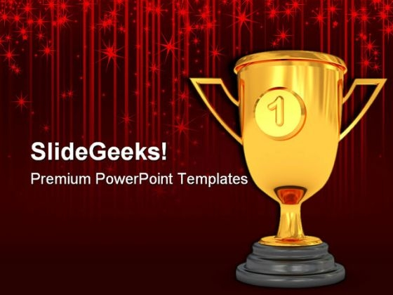 Golden Trophy Sports PowerPoint Templates And PowerPoint Backgrounds 0611