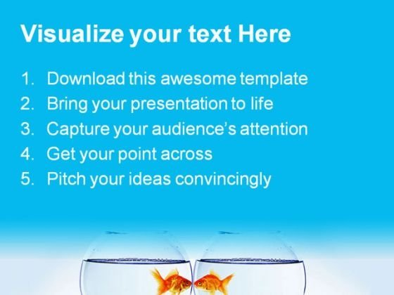 goldfish and aquarium animals powerpoint templates and powerpoint, Modern powerpoint