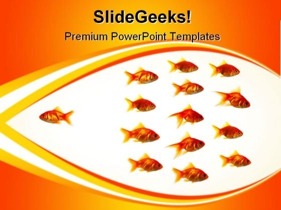 Goldfish Animals PowerPoint Templates And PowerPoint Backgrounds 0611