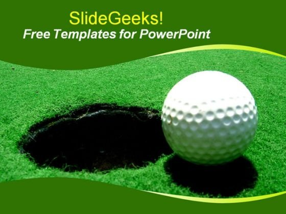 Sports Golf Ball PowerPoint Template