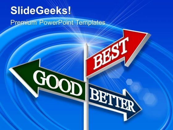 Good Better Best Travel PowerPoint Templates And PowerPoint Themes 0512