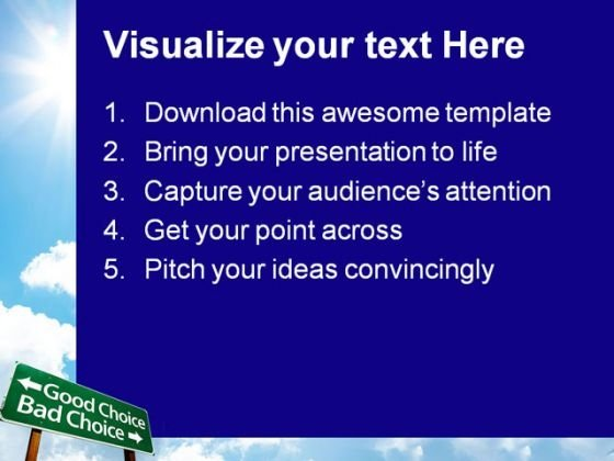 good_choice_bad_choice_business_powerpoint_templates_and_powerpoint_backgrounds_0911_text